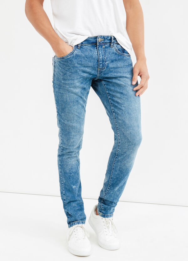 Skinny-fit, mis-dyed-effect, stretch jeans | OVS