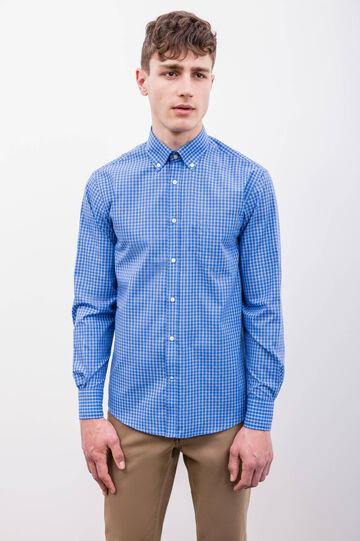 Check regular fit formal shirt, Blue, hi-res