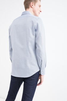 Camicia puro cotone slim fit, Multicolor, hi-res