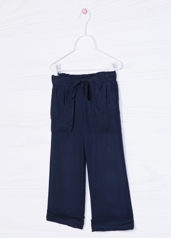 Drawstring trousers in 100% viscose | OVS