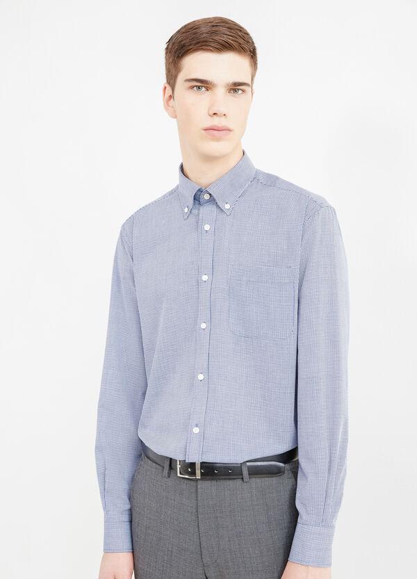 Camicia formale regular fit micro quadri | OVS