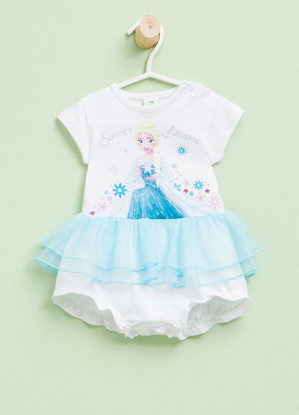 Bodysuit with tulle and Frozen print | OVS