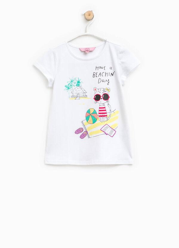 T-shirt cotone con maxi stampa | OVS
