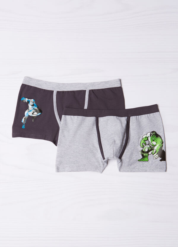 Two-pack stretch cotton Marvel boxers | OVS