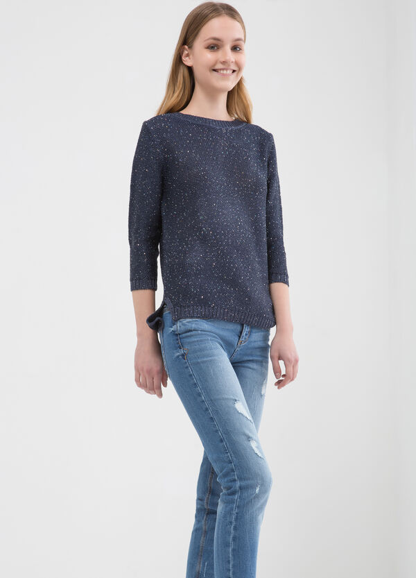 Sequinned knitted pullover | OVS