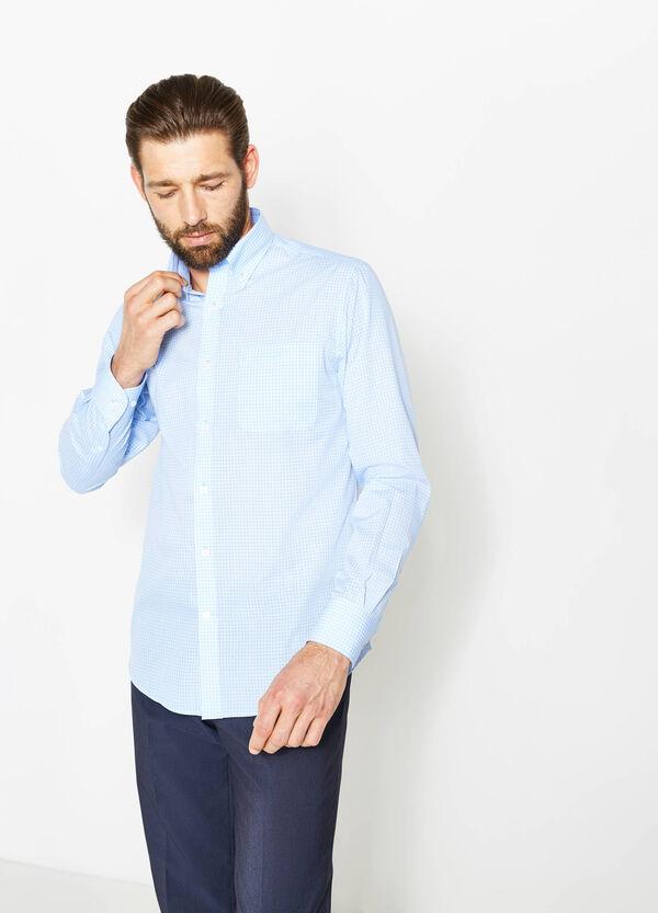 Camisa formal regular fit de cuadros con cuello abotonado | OVS