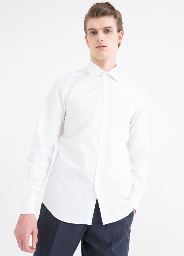 Slim-fit shirt with bluff collar | OVS