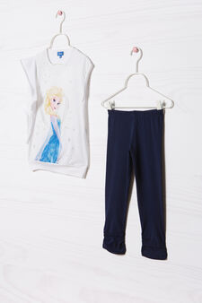 Frozen T-shirt and leggings outfit, White/Blue, hi-res