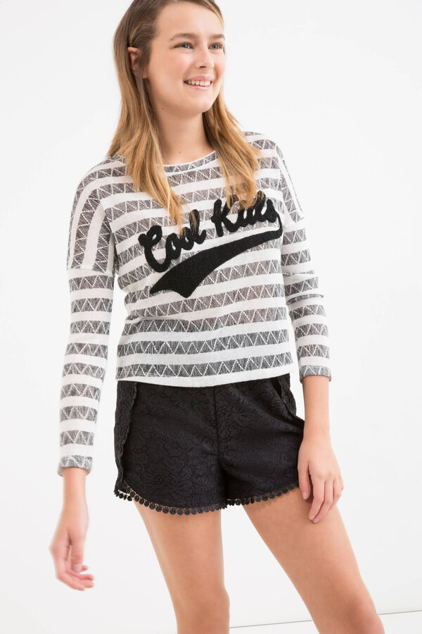 T-shirt stretch inserto fantasia Teen | OVS