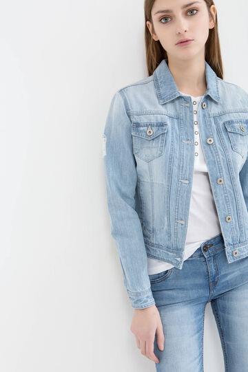 Worn-effect denim jacket
