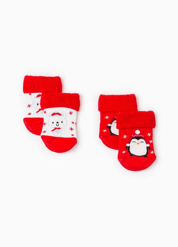 Set due paia di calze corte ricamate | OVS