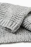Cable knit scarf, Grey Marl, hi-res