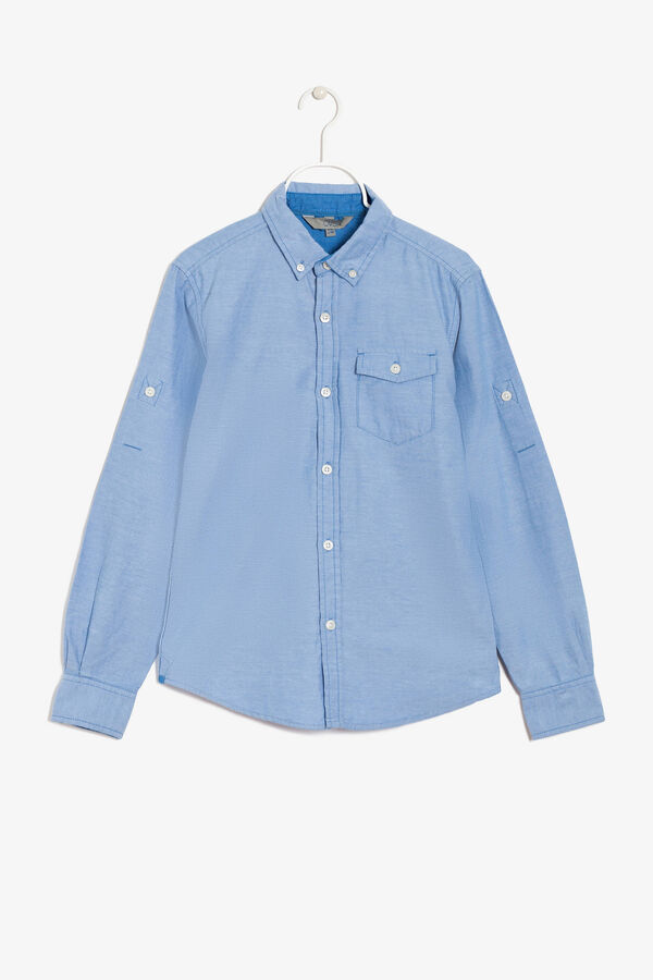 Two-tone shirt with long sleeves.   OVS
