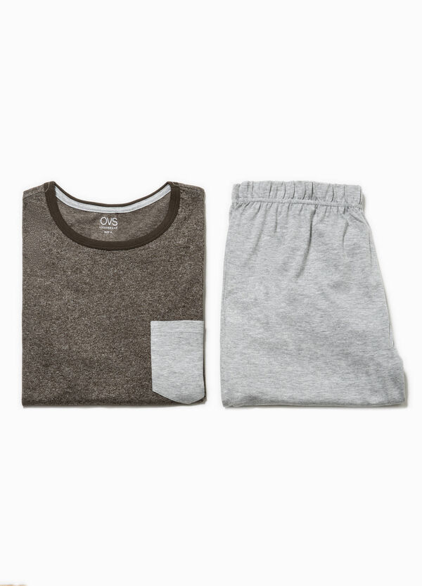 Cotton pyjamas with pocket | OVS
