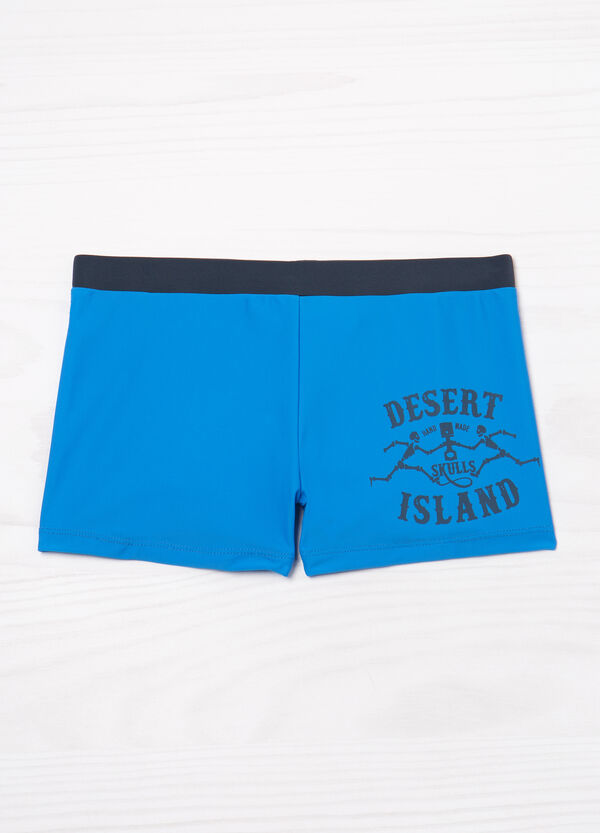 Lettering print stretch swim boxer shorts | OVS