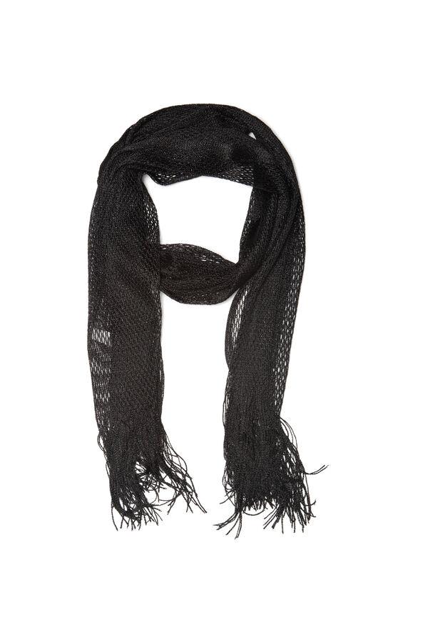 Mesh scarf with fringe | OVS