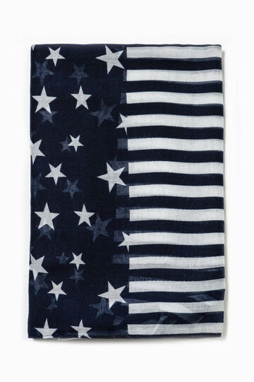 Scarf with stars and stripes pattern
