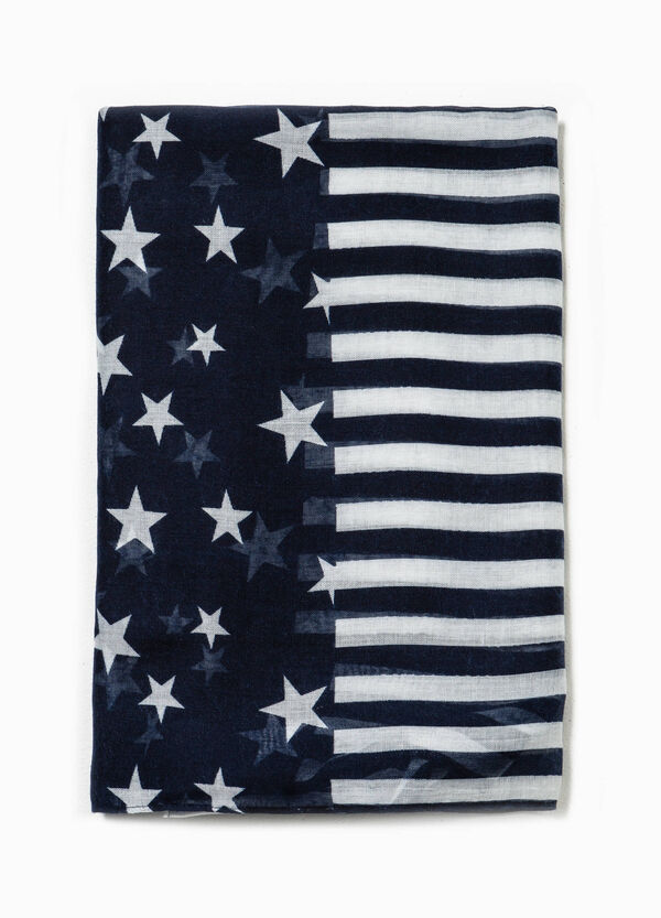 Scarf with stars and stripes pattern | OVS