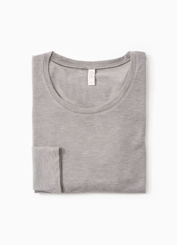 Stretch undershirt with long sleeves   OVS