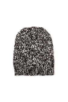 Knitted hat, Black, hi-res