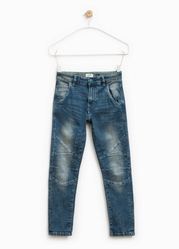 Worn-effect low-fit stretch jeans | OVS