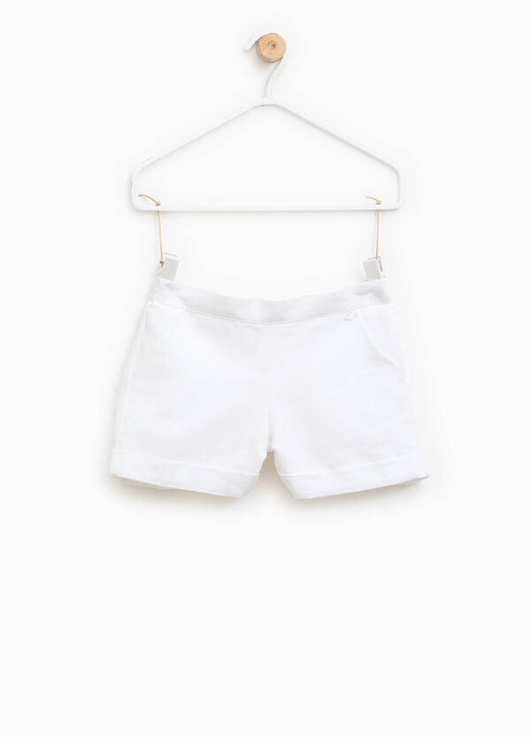 Cotton and linen shorts with pockets | OVS