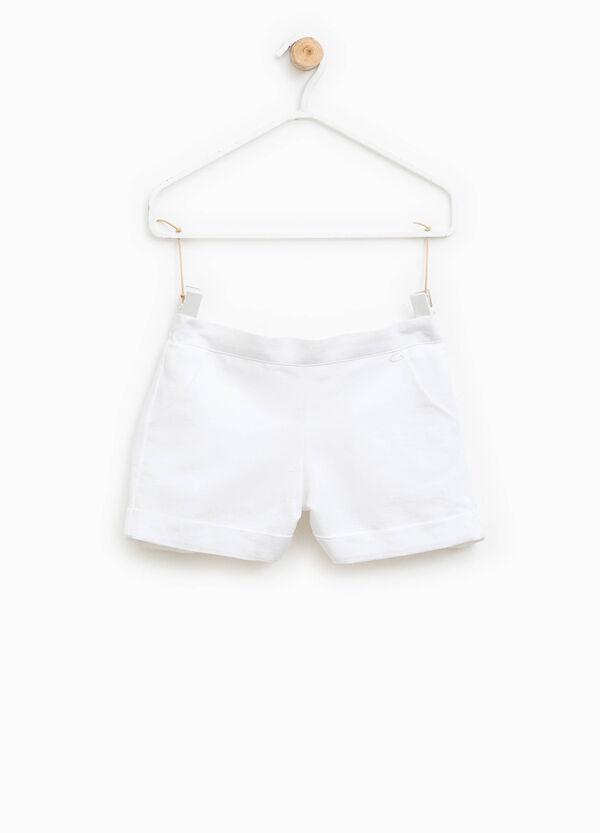Shorts de lino y algodón con bolsillos | OVS