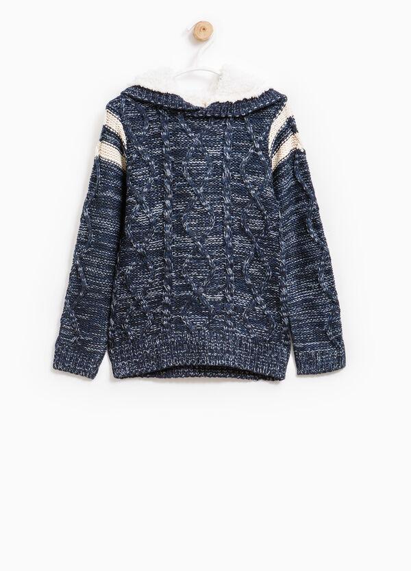 Pullover tricot con cappuccio | OVS