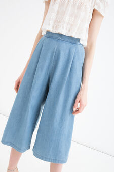 Denim culottes, Denim, hi-res