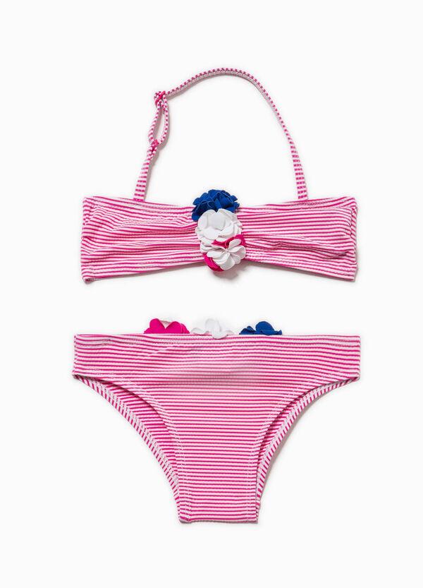 bikini a righe con fiori ovs