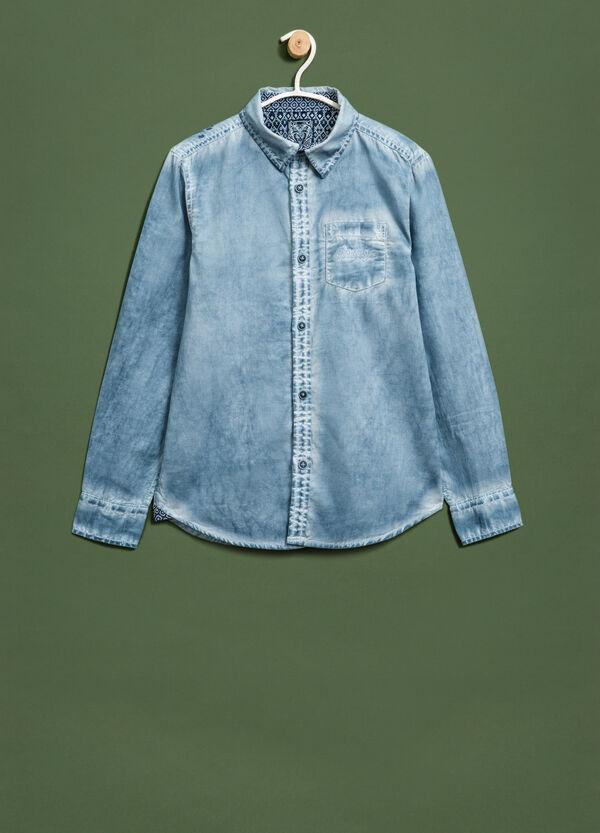 Camicia cotone effetto maltinto | OVS