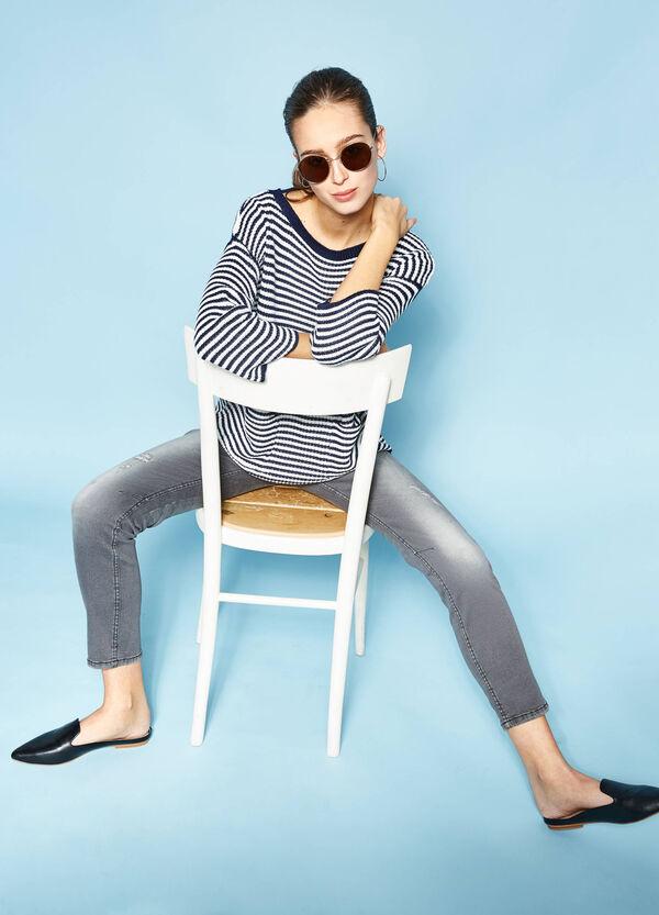 Jersey de rayas en punto tricot | OVS