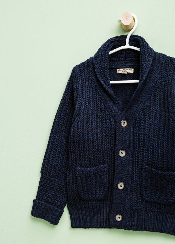Knitted cardigan with V neck | OVS