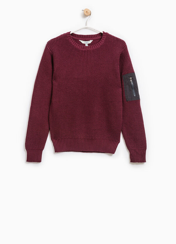 Pullover with sleeve pocket   OVS
