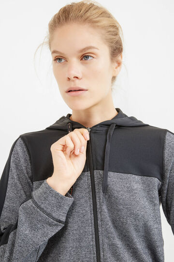 OVS Active Sport Training sweatshirt, Black/Grey, hi-res