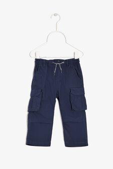 Pantaloni con laccetti, Blu navy, hi-res