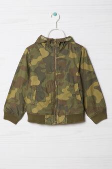 Giubbotto fantasia camouflage, Verde militare, hi-res