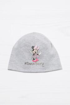Cappello a cuffia in cotone Minnie, Grigio chiaro, hi-res