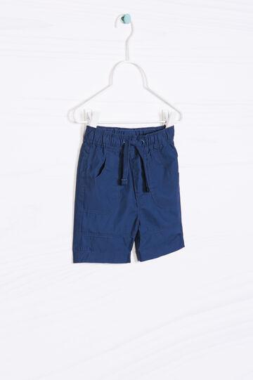 Shorts in puro cotone tinta unita
