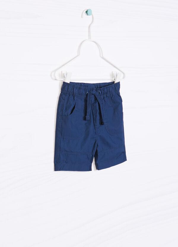 Shorts in puro cotone tinta unita | OVS