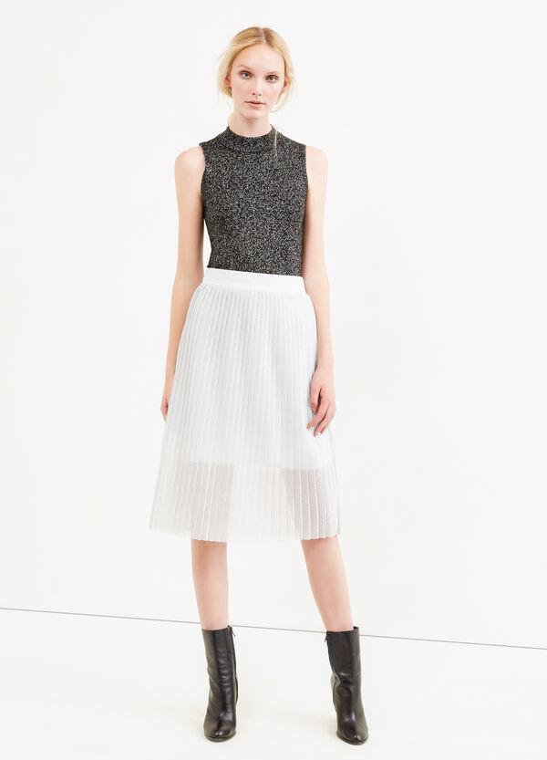 Falda midi plisada con lúrex | OVS