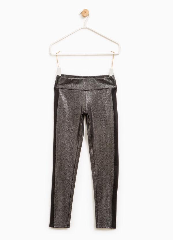 Leggings glitterati cotone stretch | OVS