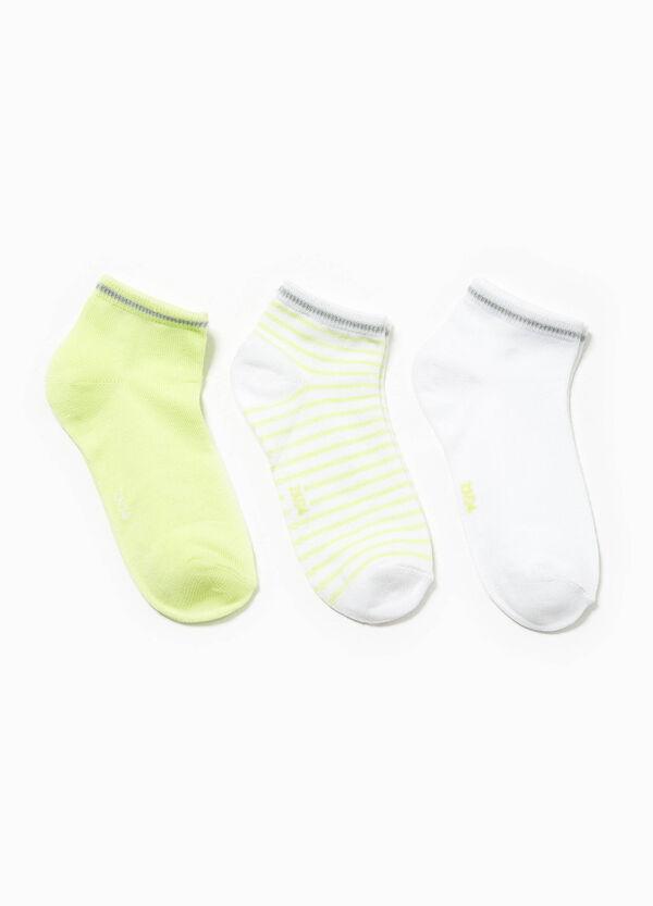 Set tre paia di calze unito e righe | OVS