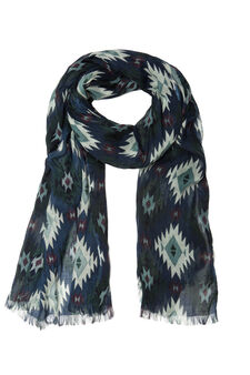 Patterned scarf in 100% viscose, Multicolour, hi-res