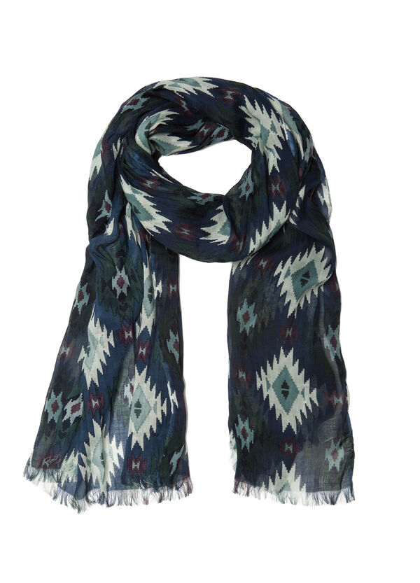 Patterned scarf in 100% viscose | OVS