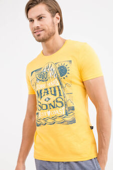 T-shirt with Maui and Sons print, Orange, hi-res