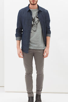 Ombré printed T-shirt, Light Blue, hi-res