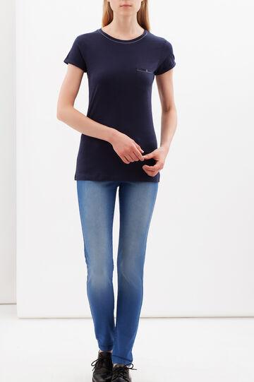 T-shirt with pocket, Navy Blue, hi-res