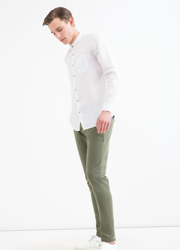 Solid colour cotton chinos | OVS