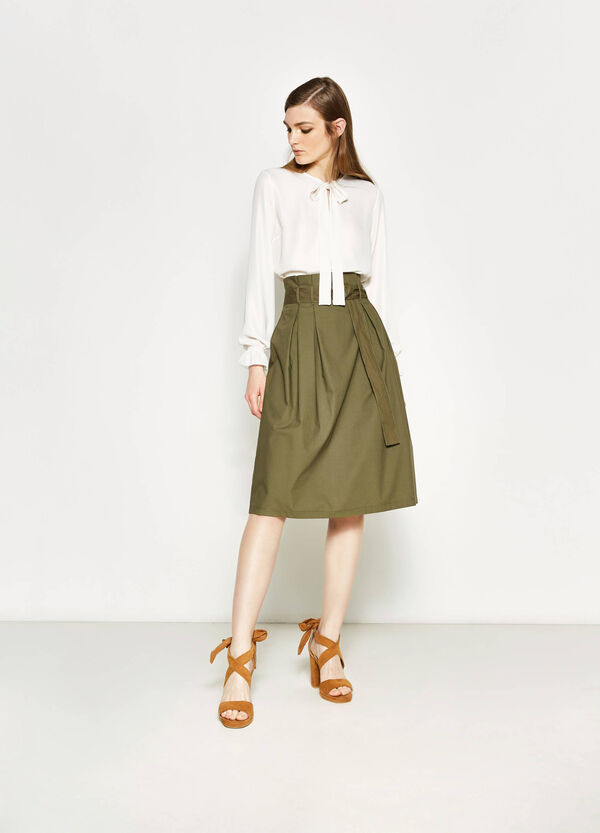 Longuette skirt with belt | OVS